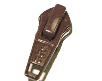 5C Nylon Brown Short Tab YKK Slider 25 Pack