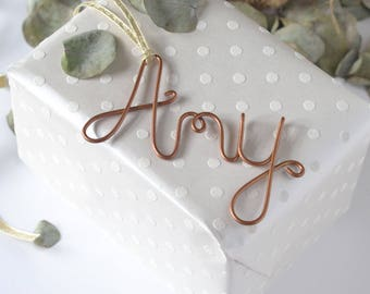 Name Tags, Gift Labels, Copper Gift Tags, Birthday Gift Tag, Gift tags, Personalised Tags, Name Gift Tags, Christmas Labels,