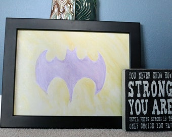 DC Batgirl Watercolor Painting