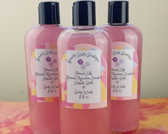 Almond Macaroon Scented Bubble Bath & Body Wash in 1, Sparkly Bubble Bath, Liquid Bubble Bath, Kids Bath, Gifts for Her, Shower Gel, Glitter