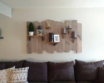 Decorative Wood Shelf Wall Hanging - Reclaimed Wood