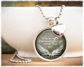 Urn necklace etsy urn necklace your wings were ready cremation jewelry ashes necklace loss of loved one memorial urn aloadofball