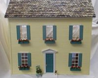 Charoltte Dollhouse MADE in the USA 7 rooms Easy build