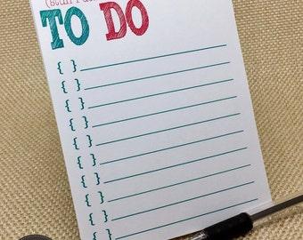 To Do Notepad - Teacher Gift - Teacher Notepad - Stuff I Don't Want to Do - Notepad - Procrastinator Gift - Office Supplies