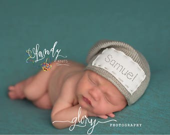 No Name hat, newborn photo prop, photo prop, slouch hat, photo prop newborn, photo props boy, photo props girl, personalized baby hat, name
