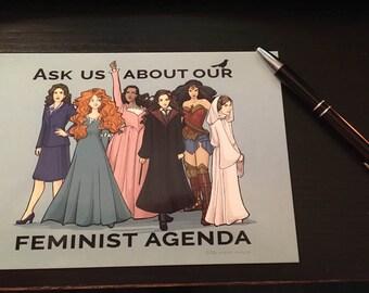 Feminist Agenda Postcard (Item 09-384)