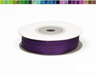 3mm - reel 50 m ref 285 plum satin ribbon