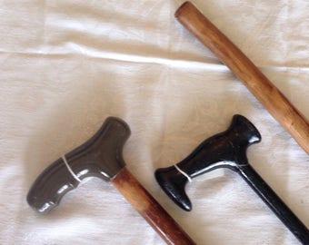 VINTAGE WOOD CANE, wooden walking stick