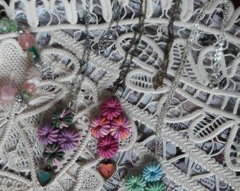 Romanian Point Lace Pendants