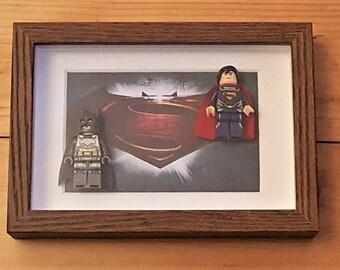 Batman Vs Superman Framed Minifigure Set