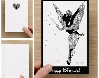Personalised Tinkerbell HAPPY BIRTHDAY Card