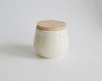 Handmade Lidded Container Porcelain jar kitchen jar wedding gift chef gift kitchen storage jam jar housewarming gift  storage kitchen