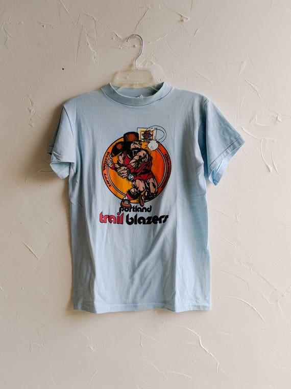 Promo Sportswear Trail T Blazers Shirt Vintage Portland Basketball Tshirt Vintage 70s 1977 Rare 78xFdqw