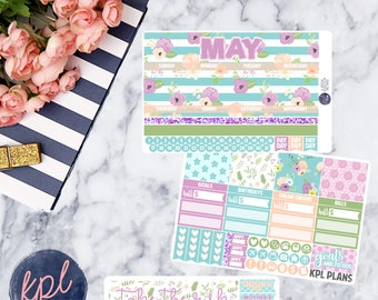 May Monthly Planner Sticker Kit. Perfect for Erin Condren Life Planners! MAY