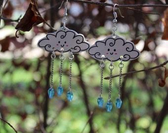 Happy Little Rain Cloud Earrings