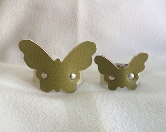 Matching Mommy & Me Green Leather Butterfly Bracelets (infant/toddler)