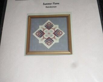 Cross Stitch Chart / Pattern - Summer flame Kaleidoscope - Creative Reflections