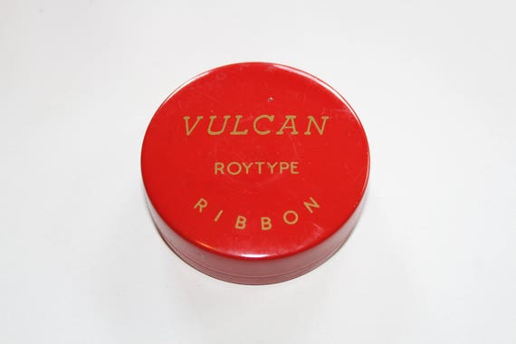 Vulcan Typewriter Ribbon Tin Vintage