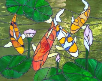 Stained Glass Kio fish Window