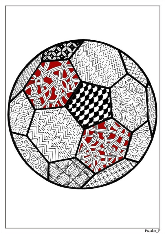 It is a picture of Candid Soccer Ball Coloring
