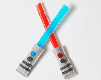 Star Wars Birthday Party Favor -  Gift for Star Wars Fan - Light Saber Popsicle Holders - Star Wars Party Favors