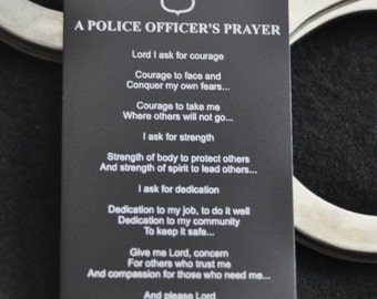 Police Officer Prayer Metal Wallet Card, for Cops, Sheriff, Deputy, Police Officer Spouse, Police Academy Graduate by JackGlass on Etsy