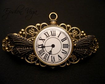 The Flight of Time - hairclip barrette