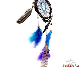 Dreamcatcher DreamCatcher Willow with natural stones and feathers custom
