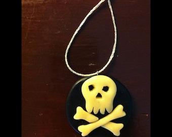 Glow in the Dark Skull and Crossbones Ornament
