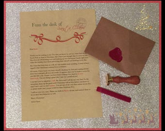 Santa Claus personalised letter