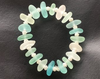 Genuine Sea Glass Bracelet
