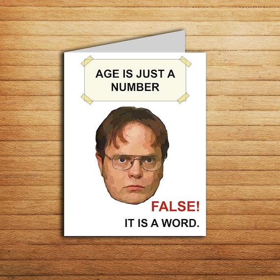 The office tv show birthday card printable the office cards the office tv show birthday card printable the office cards birthday gift for coworker funny meme dwight schrute michael scott jim halpert bookmarktalkfo Images