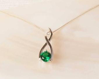Emerald necklace pendant antique pendant emerald jewelry emerald silver pendant sterling silver lab emerald pendant emerald necklace emerald jewellery aloadofball Gallery