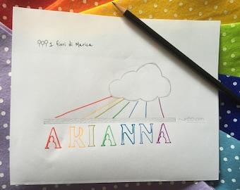 Arianna Rainbow Baby Mobile