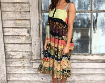 Lola dress-medium large-artsy-Eco Clothing-Upcycled Clothing-Free People and Anthropologie inspired-by Love HIGHER Handmade Clothing