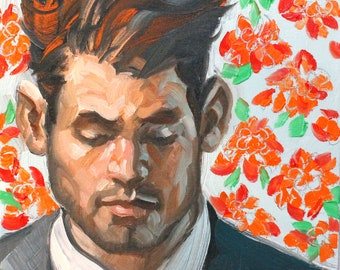 Best Man, oil on canvas panel, 11x14 inches  by KennEy Mencher