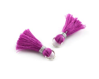 Small PomPoms 2 cm set of 2 Fuchsia P129 FM