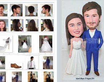 Custom Wedding Cake Topper - Bride & Groom - Personalized Wedding Decor - wedding cake topper from your photos