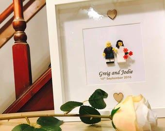 Scottish Lego® Wedding Gift Frame - customable!
