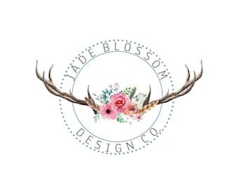 Premade Logo| Watercolour Logo | Photography Logo | floral Logo | Handmade Logo | Watermark | Branding Package