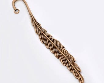 Bookmarks feather 12cm red copper