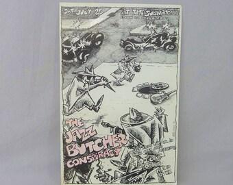 Jazz Butcher Conspiracy original flyer - Vintage 1980s Flyer - band gig concert flyer - 1987 Windsor Canada