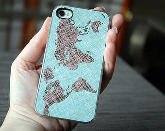 iPhone 8 Case Clear, iPhone 8 Plus Case Clear, World Map Colorful Sketch Custom iPhone Case, unique iphone cases