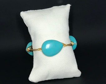 Mayan db couture tear drop turquoise bangle
