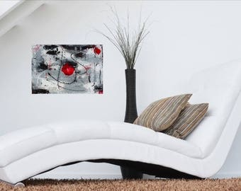 Happy Clown, abstract painting, contemporary art, acrylic