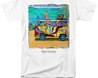 VW Bus... T Shirt... Hippie Peace  Bus...T Shirt...Comfort fit or Slightly fitted