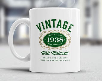 80th Birthday, 1938 Birthday, 80th Birthday Gift, 80th Birthday Idea, Vintage 'Bourbon', Happy Birthday, 80th Birthday Present, 80 year old