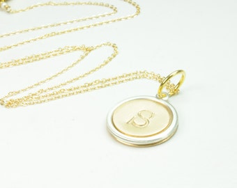 Personalized Single Initial Monogram Necklace/Bridesmaid Thank You Gifts/Friendship Necklaces