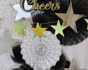 Table Backdrop Champagne Table Background Bubbly Bar Bridal Shower Backdrop Cheers Sign Hanging Fans New Years Decorations Photo Props