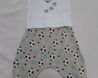Harem pants and t-shirt set size 1 year model football